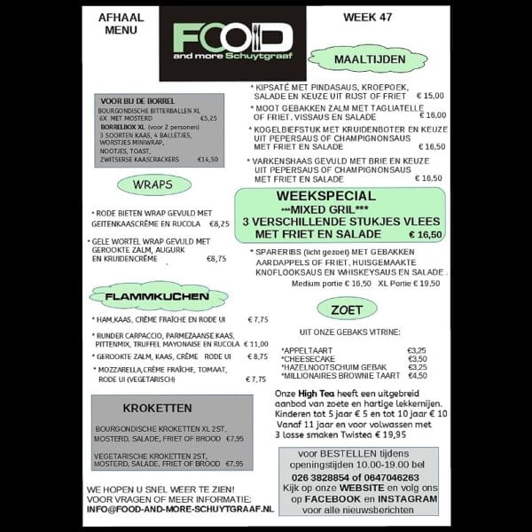 week menu week 47